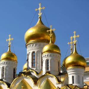 Onion domes of Cathedral of the Annunciation