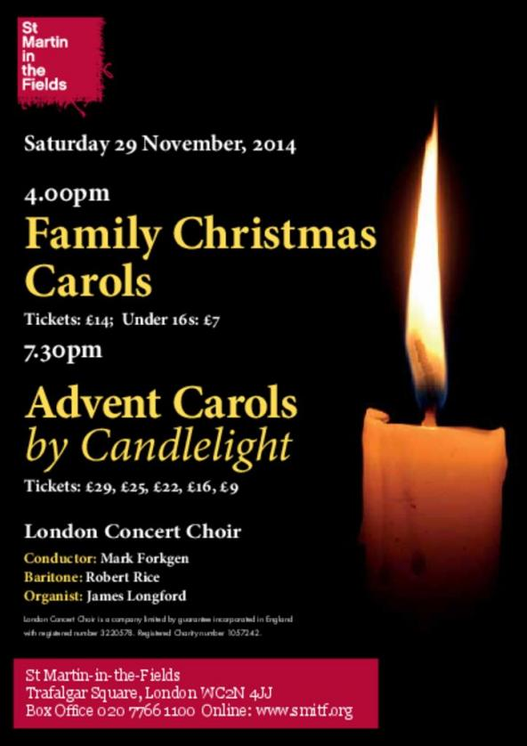advent carols by candlelight london concert choir. Black Bedroom Furniture Sets. Home Design Ideas